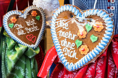 Gingerbread heart Royalty Free Stock Photography