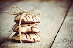 Gingerbread heart on Valentine's Day Stock Photography