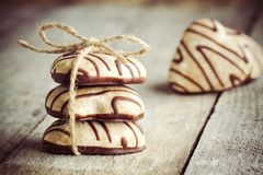 Gingerbread heart on Valentine's Day Royalty Free Stock Photo