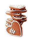 Gingerbread hearts stock photo