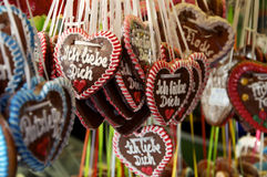 Gingerbread Hearts Stock Photography