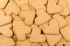 Gingerbread hearts cookies Royalty Free Stock Photography