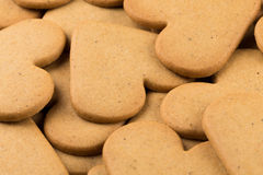 Gingerbread hearts cookies Royalty Free Stock Images