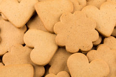 Gingerbread hearts cookies Stock Images