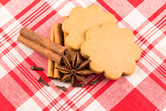 Gingerbread hearts cookies Royalty Free Stock Photo