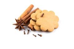Gingerbread hearts cookies Stock Photos