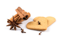 Gingerbread hearts cookies Stock Photography