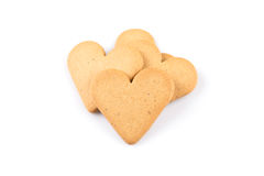 Gingerbread hearts cookies Royalty Free Stock Image