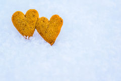 Gingerbread hearts Royalty Free Stock Photography