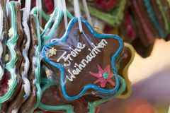 Gingerbread Hearts on german christmas market Stock Photo
