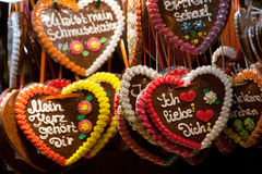 Gingerbread Hearts. At the Oktoberfest Stock Image