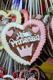 Gingerbread hearts at the Oktoberfest. Stock Image