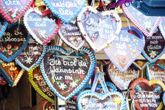 Gingerbread Hearts on Oktoberfest Royalty Free Stock Photography