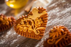 Gingerbread hearts Stock Image