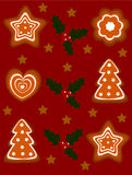 Gingerbread holiday background Royalty Free Stock Image