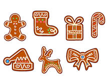 Gingerbread holiday objects Stock Photography
