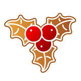 Gingerbread Holly Berry Stock Photos
