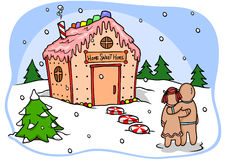 Gingerbread Home Stock Images