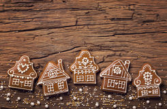 Gingerbread home cookies Royalty Free Stock Images