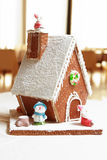 Gingerbread house. Isolated on white background Royalty Free Stock Photography