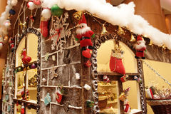 Gingerbread house. Isolated candies and icing gingerbread house Stock Photography