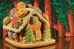 Gingerbread house. Czech gingerbread house dessert food royalty free stock photo