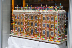 Gingerbread House. One of Macy's famous window displays in New York City Stock Photography