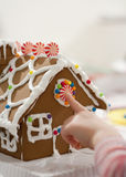 Gingerbread House. Photo of Christmas holiday gingerbread cookie house Stock Images