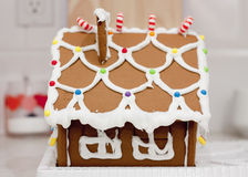 Gingerbread House. Photo of Christmas holiday gingerbread cookie house Stock Photography