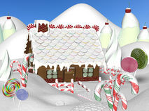 Free Gingerbread House Royalty Free Stock Image - 27244116