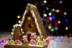 Gingerbread House. Holiday theme gingerbread house Stock Photography