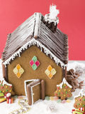 Gingerbread House. Decorated with gingerbread trees Royalty Free Stock Photo