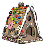 Gingerbread house. For christmas decoration Stock Image