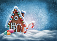 Free Gingerbread House Stock Image - 78552601