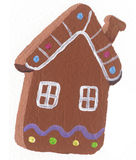 Gingerbread House biscuit Royalty Free Stock Images