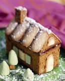 Gingerbread house with biscuits and almond paste Stock Images