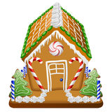 Gingerbread house with candies Stock Photography