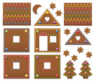 Gingerbread House Candies Model Template Stock Photo