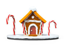 Gingerbread house cartoon front Royalty Free Stock Images