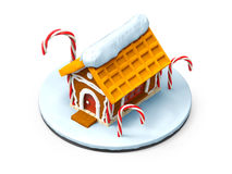 Gingerbread house cartoon Royalty Free Stock Photography