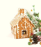 Gingerbread house with Christmas decoration Royalty Free Stock Photography