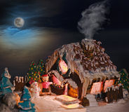 Gingerbread house Christmas decorations for the holiday Stock Image