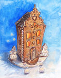 Gingerbread house Christmas design element Royalty Free Stock Photos