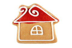 Gingerbread house. Christmas Gingerbread House, Isolated on white stock photo
