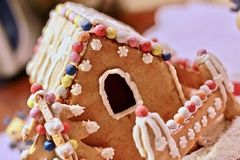 Gingerbread house. Christmas preparations, baking form home Stock Photo