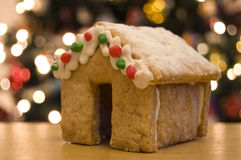Gingerbread House. At Christmas time Royalty Free Stock Photo