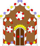 Gingerbread house color 02 Stock Photo