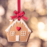 Gingerbread House Cookie Stock Image