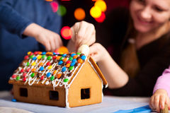 Gingerbread house decoration Stock Photo