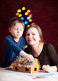 Gingerbread house decoration Stock Photos